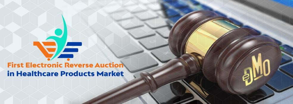 First Electronic Reverse Auction in Healthcare Products Market