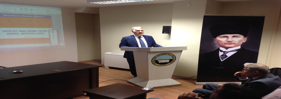 """Zonguldak Ticaret ve Sanayi Odasında Gerçekleştirilen """"Müşterin Kamu Olsun Toplantısı"""" Konulu Toplantı"""
