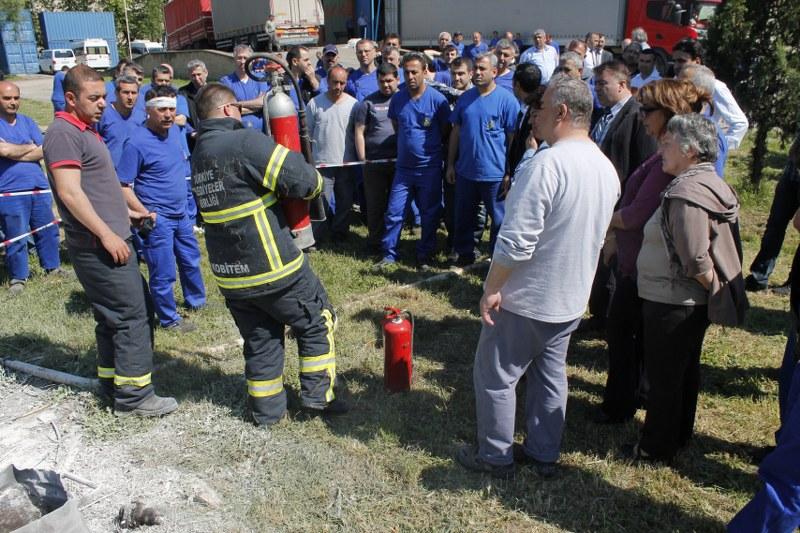 Basım İşletme Müdürlüğü tarafından 12 MAYIS 2015 günü yangın tatbikatı yapıldı
